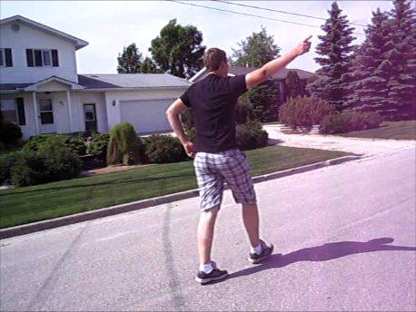 Taran Dancing on the Street